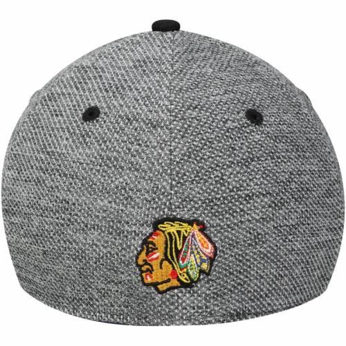 アディダス ADIDAS シカゴ バッグ キャップ 帽子 メンズキャップ メンズ 【 Chicago Blackhawks Culture Two Tone Felt Structured Flex Hat - Gray/black 】 Gray/black