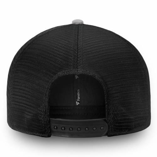 FANATICS BRANDED キングス チーム トラッカー スナップバック バッグ 黒 ブラック キャップ 帽子 メンズキャップ メンズ 【 Los Angeles Kings Iconic Team Pop Trucker Adjustable Snapback Hat - Black 】 Black