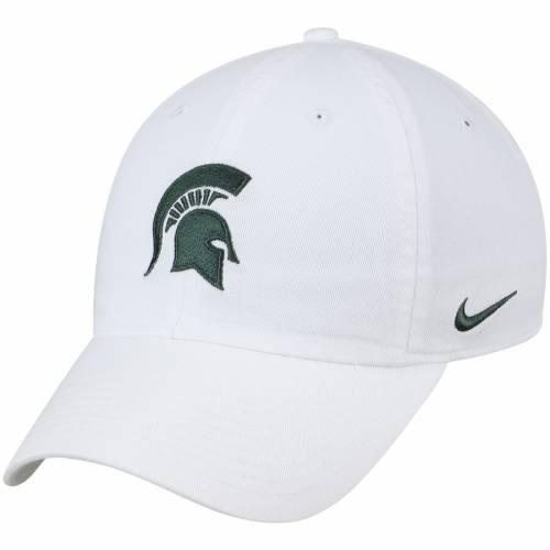 ナイキ NIKE ミシガン スケートボード パフォーマンス 緑 グリーン バッグ キャップ 帽子 メンズキャップ メンズ 【 Michigan State Spartans Heritage 86 Performance Adjustable Hat - Green 】 White