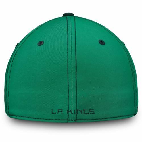 FANATICS BRANDED キングス スピード 緑 グリーン St. バッグ キャップ 帽子 メンズキャップ メンズ 【 Los Angeles Kings St. Patricks Day Shamrock Speed Flex Hat - Kelly Green 】 Kelly Green