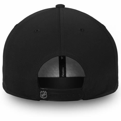 FANATICS BRANDED シカゴ スナップバック バッグ 黒 ブラック キャップ 帽子 メンズキャップ メンズ 【 Chicago Blackhawks Depth Emblem Snapback Adjustable Hat - Black 】 Black
