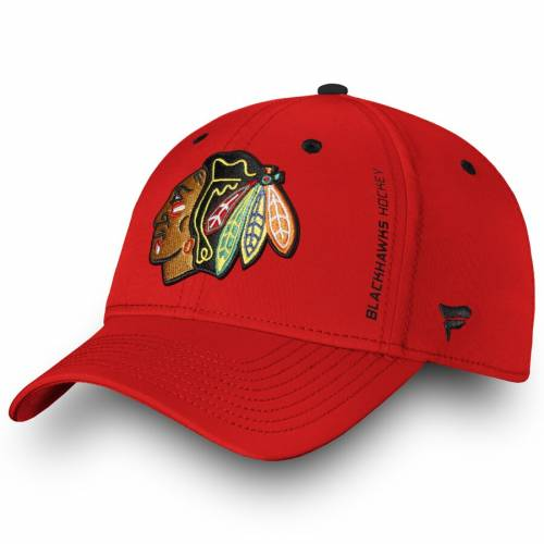 FANATICS BRANDED シカゴ オーセンティック プロ スピード 赤 レッド バッグ キャップ 帽子 メンズキャップ メンズ 【 Chicago Blackhawks Authentic Pro Rinkside Speed Flex Hat - Red 】 Red