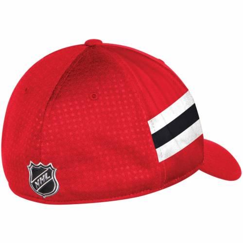 アディダス ADIDAS シカゴ 赤 レッド バッグ キャップ 帽子 メンズキャップ メンズ 【 Chicago Blackhawks 2017 Draft Structured Flex Hat - Red 】 Red