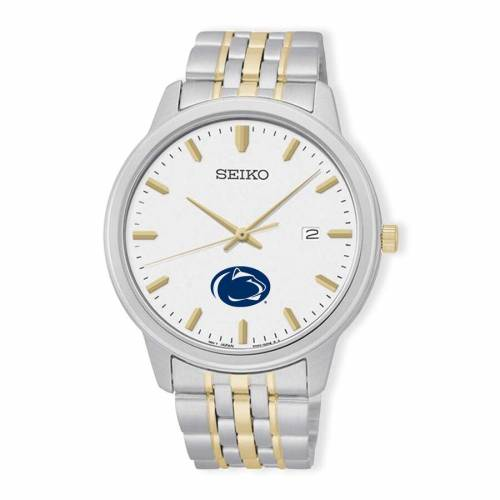 SEIKO スケートボード ライオンズ ブレスレット ウォッチ 時計 銀色 シルバー 金色 ゴールド 【 STATE WATCH SILVER SEIKO PENN NITTANY LIONS PRIME BRACELET GOLD 】 腕時計 メンズ腕時計