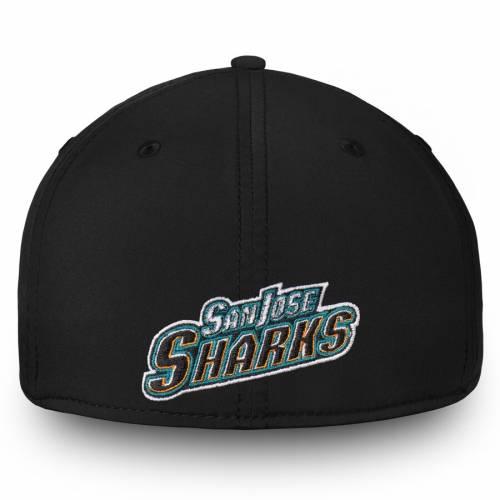FANATICS BRANDED コア ロゴ 黒 ブラック バッグ キャップ 帽子 メンズキャップ メンズ 【 San Jose Sharks Core Alternate Logo Flex Hat - Black 】 Black
