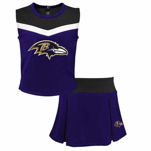 OUTERSTUFF ボルティモア レイブンズ 子供用 キッズ ベビー マタニティ ジュニア 【 Baltimore Ravens Youth Spirit Cheer Two-piece Cheerleader Set - Purple/black 】 Purple/black