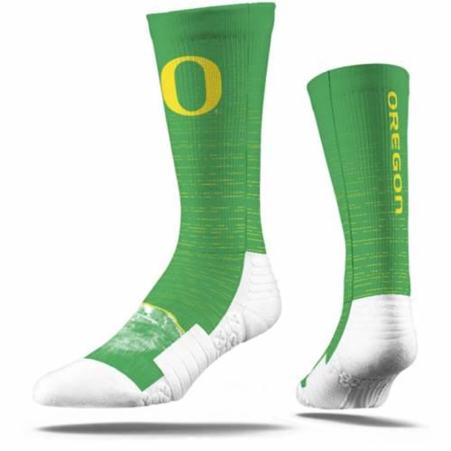 STRIDELINE オレゴン ロゴ ソックス 靴下 インナー 下着 ナイトウエア メンズ 下 レッグ 【 Oregon Ducks Full Sublimated Logo Crew Socks 】 Color