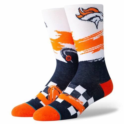 スタンス STANCE デンバー ブロンコス ソックス 靴下 インナー 下着 ナイトウエア メンズ 下 レッグ 【 Denver Broncos Racer Crew Socks 】 Color