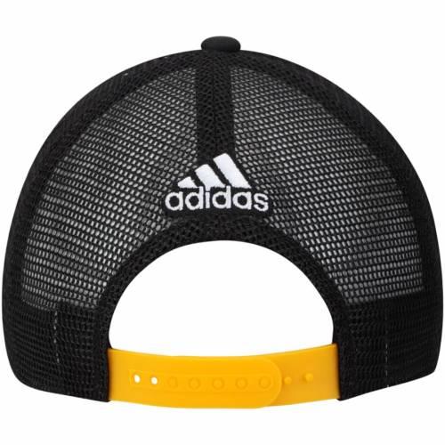 アディダス ADIDAS ピッツバーグ レーザー トラッカー スナップバック バッグ 黒 ブラック キャップ 帽子 メンズキャップ メンズ 【 Pittsburgh Penguins Laser Trucker Adjustable Snapback Hat - Black 】 Bl