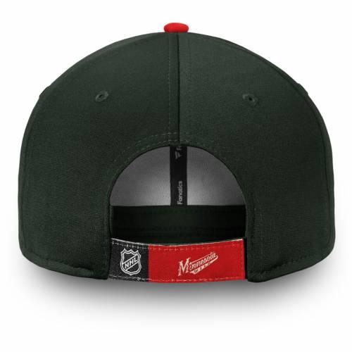 FANATICS BRANDED ミネソタ ワイルド アルファ 緑 グリーン バッグ キャップ 帽子 メンズキャップ メンズ 【 Minnesota Wild Depth Alpha Adjustable Hat - Green 】 Green