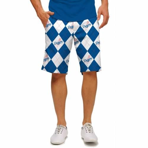 LOUDMOUTH ドジャース ショーツ ハーフパンツ 白 ホワイト 【 WHITE LOUDMOUTH LOS ANGELES DODGERS ARGYLE SHORTS ROYAL 】 メンズファッション ズボン パンツ