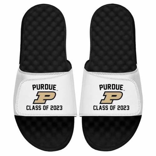 ISLIDE サンダル 白 ホワイト 【 SLIDE WHITE ISLIDE PURDUE BOILERMAKERS CLASS OF 2023 SANDALS 】 メンズ サンダル スポーツサンダル
