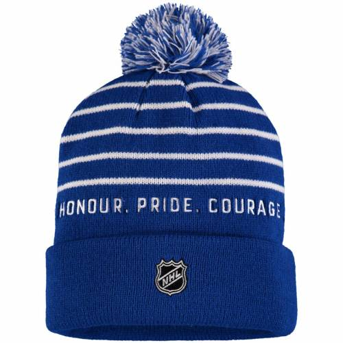 FANATICS BRANDED トロント ニット バッグ キャップ 帽子 メンズキャップ メンズ 【 Toronto Arenas Cuffed Pom Knit Hat - Royal 】 Royal