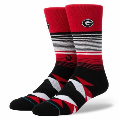スタンス STANCE ストライプ ソックス 靴下 インナー 下着 ナイトウエア メンズ 下 レッグ 【 Georgia Bulldogs Geo Stripe Crew Socks 】 Color