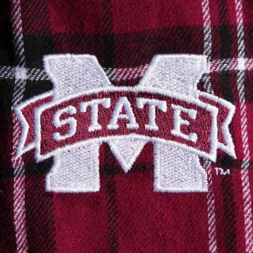 CONCEPTS SPORT スケートボード カレッジ アルティメイト 【 STATE ULTIMATE MISSISSIPPI BULLDOGS COLLEGE FLANNEL PANTS MAROON BLACK 】 インナー 下着 ナイトウエア メンズ ナイト ルーム パジャマ 送料無料