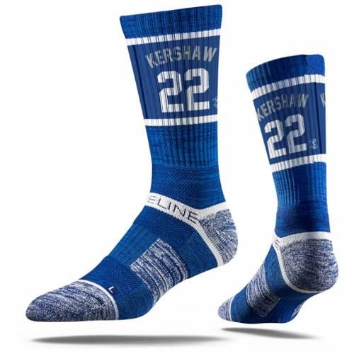 STRIDELINE ドジャース プレミアム ソックス 靴下 インナー 下着 ナイトウエア メンズ 下 レッグ 【 Clayton Kershaw Los Angeles Dodgers Premium Player Crew Socks 】 Color