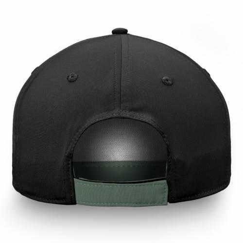 FANATICS BRANDED ミネソタ ワイルド アルファ バッグ キャップ 帽子 メンズキャップ メンズ 【 Minnesota Wild Iconic Alpha Adjustable Hat - Black/green 】 Black/green