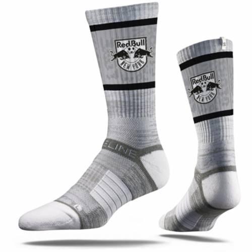 STRIDELINE 赤 レッド ブルズ プレミアム ソックス 靴下 灰色 グレー グレイ インナー 下着 ナイトウエア メンズ 下 レッグ 【 New York Red Bulls Premium Crew Socks - Gray 】 Gray