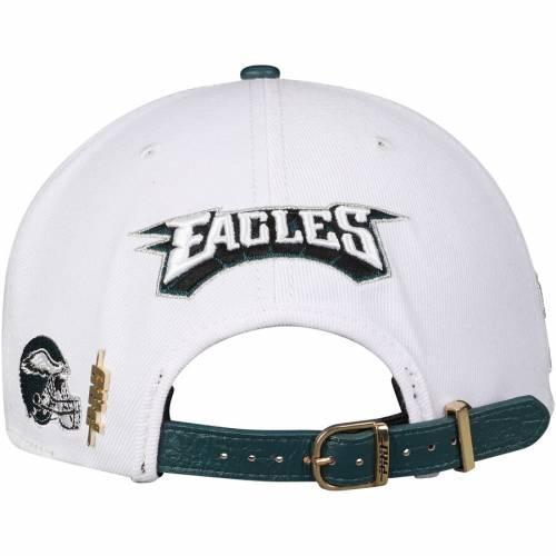 PRO STANDARD フィラデルフィア イーグルス 緑 グリーン バッグ キャップ 帽子 メンズキャップ メンズ 【 Philadelphia Eagles Super Bowl Lii Champions Two-tone Adjustable Hat - White/midnight Green 】 White/midnight
