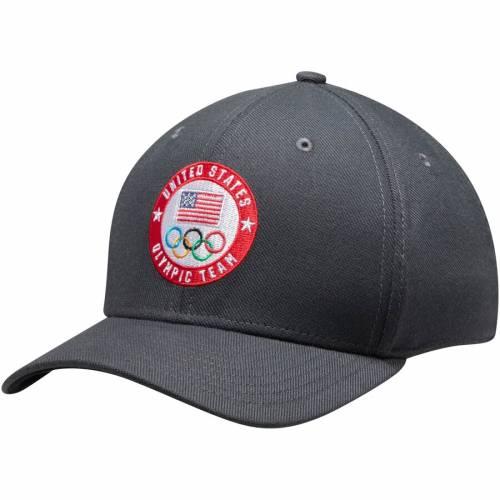 ナイキ NIKE チーム ロゴ スウッシュ スウォッシュ パフォーマンス バッグ キャップ 帽子 メンズキャップ メンズ 【 Team Usa Flag And Rings Circle Logo Swoosh Performance Flex Hat - Anthracite 】 Anthracite