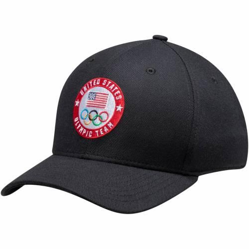 ナイキ NIKE チーム ロゴ スウッシュ スウォッシュ パフォーマンス バッグ キャップ 帽子 メンズキャップ メンズ 【 Team Usa Flag And Rings Circle Logo Swoosh Performance Flex Hat - Anthracite 】 Black