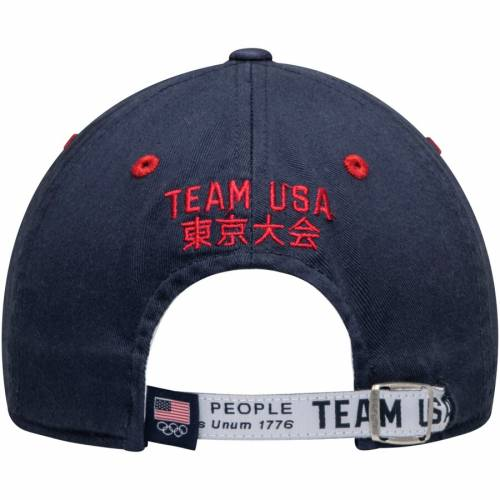 OUTERSTUFF チーム バッグ キャップ 帽子 メンズキャップ メンズ 【 Team Usa Tail Sweep Slouch Adjustable Hat - White/navy 】 White/navy