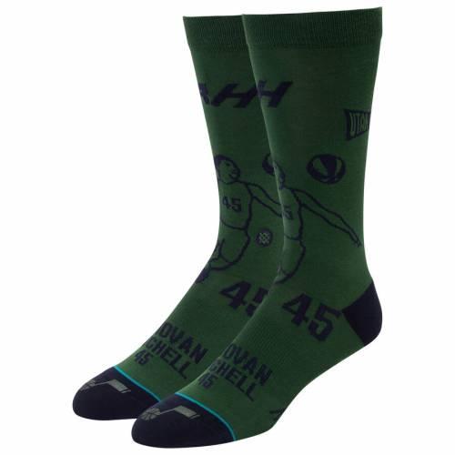 スタンス STANCE ユタ ジャズ ソックス 靴下 インナー 下着 ナイトウエア メンズ 下 レッグ 【 Donovan Mitchell Utah Jazz Stencil Crew Socks 】 Color
