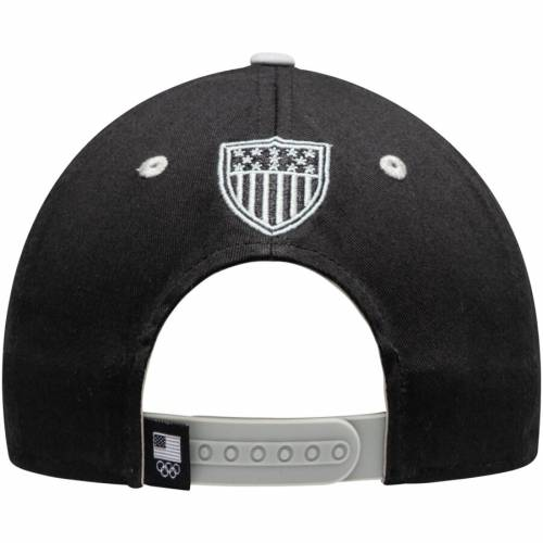 OUTERSTUFF チーム バッグ キャップ 帽子 メンズキャップ メンズ 【 Team Usa Latitude Two-tone Structured Adjustable Hat - Black/gray 】 Black/gray