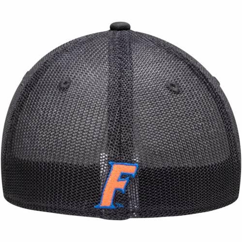 TOP OF THE WORLD フロリダ 黒 ブラック バッグ キャップ 帽子 メンズキャップ メンズ 【 Florida Gators Barter Mesh Back Flex Hat - Black 】 Black