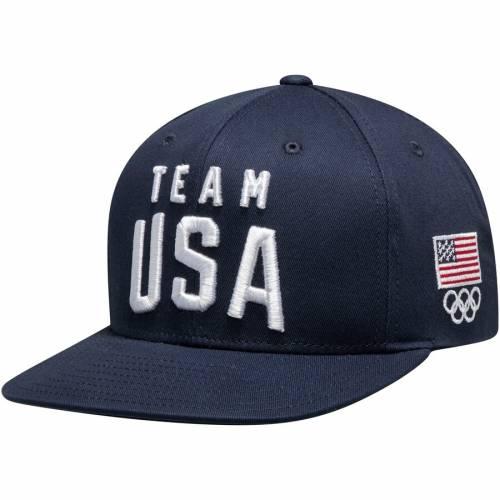 OUTERSTUFF チーム ソリッド ロゴ スナップバック バッグ 紺 ネイビー キャップ 帽子 メンズキャップ メンズ 【 Team Usa Solid Flatbrim New Logo Adjustable Snapback Hat - Navy 】 Navy