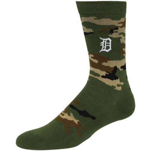 PKWY デトロイト タイガース ソックス 靴下 インナー 下着 ナイトウエア メンズ 下 レッグ 【 Detroit Tigers Decoy Crew Socks - Camo 】 Camo