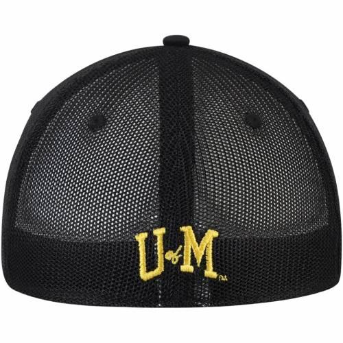 TOP OF THE WORLD ミシガン 黒 ブラック バッグ キャップ 帽子 メンズキャップ メンズ 【 Michigan Wolverines Barter Mesh Back Flex Hat - Black 】 Black