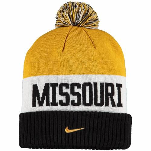 ナイキ NIKE ミズーリ タイガース チーム ニット バッグ キャップ 帽子 メンズキャップ メンズ 【 Missouri Tigers Team Name Cuffed Knit Hat With Pom - Gold 】 Gold