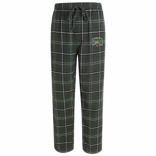 CONCEPTS SPORT オハイオ ボブキャッツ アルティメイト 緑 グリーン インナー 下着 ナイトウエア メンズ ナイト ルーム パジャマ 【 Ohio Bobcats Ultimate Flannel Pajama Pants - Green 】 Green