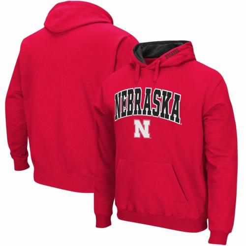 STADIUM ATHLETIC ロゴ メンズファッション トップス スウェット トレーナー メンズ 【 Nebraska Cornhuskers Big And Tall Arch And Logo Tackle Twill Hooded Sweatshirt - Scarlet 】 Scarlet