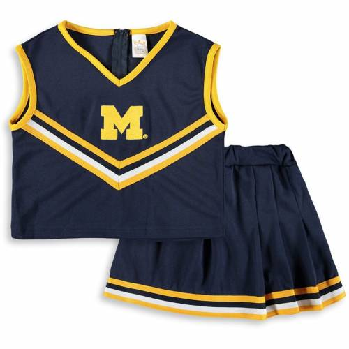 LITTLE KING ミシガン 子供用 紺 ネイビー キッズ ベビー マタニティ ジュニア 【 Michigan Wolverines Girls Youth Two-piece Cheer Set - Navy 】 Navy