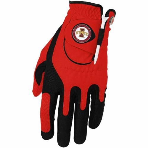 ZERO FRICTION BY TEAM GOLF スケートボード ゴルフ グローブ グラブ 手袋 赤 レッド スポーツ アウトドア メンズ 【 Iowa State Cyclones Left Hand Golf Glove And Ball Marker Set - Red 】 Red