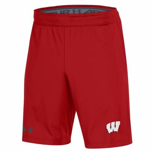 アンダーアーマー UNDER ARMOUR ウィスコンシン ショーツ ハーフパンツ 赤 レッド メンズファッション ズボン パンツ メンズ 【 Wisconsin Badgers Mk-1 Shorts - Red 】 Red