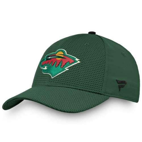 FANATICS BRANDED ミネソタ ワイルド オーセンティック プロ 緑 グリーン バッグ キャップ 帽子 メンズキャップ メンズ 【 Minnesota Wild Authentic Pro Rinkside Flex Hat - Green 】 Green