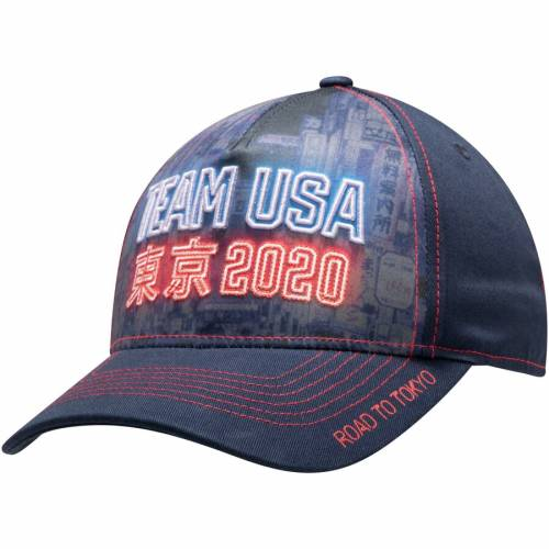 OUTERSTUFF チーム サマー バッグ キャップ 帽子 メンズキャップ メンズ 【 Team Usa Road To Tokyo 2020 Summer Olympics Structured Adjustable Hat - Navy/blue 】 Navy/blue