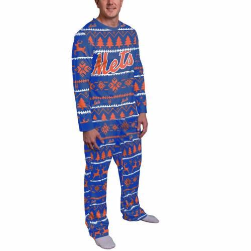 FOCO メッツ インナー 下着 ナイトウエア メンズ ナイト ルーム パジャマ 【 New York Mets Wordmark Pajama Set - Royal 】 Royal