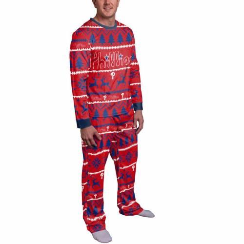 FOCO フィラデルフィア フィリーズ 赤 レッド インナー 下着 ナイトウエア メンズ ナイト ルーム パジャマ 【 Philadelphia Phillies Wordmark Pajama Set - Red 】 Red