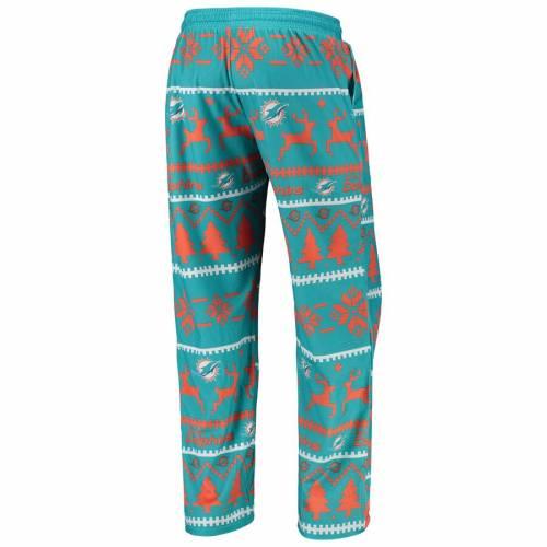 FOCO マイアミ ドルフィンズ アクア インナー 下着 ナイトウエア メンズ ナイト ルーム パジャマ 【 Miami Dolphins Holiday Wordmark Ugly Pajama Set - Aqua 】 Aqua
