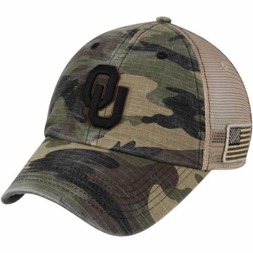 TOP OF THE WORLD トラッカー バッグ キャップ 帽子 メンズキャップ メンズ 【 Oklahoma Sooners Declare Trucker Adjustable Hat - Camo 】 Camo