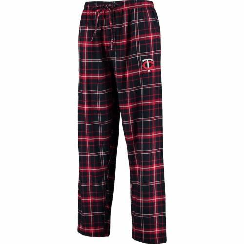 CONCEPTS SPORT ミネソタ ツインズ アルティメイト インナー 下着 ナイトウエア メンズ ナイト ルーム パジャマ 【 Minnesota Twins Ultimate Plaid Flannel Pants - Navy/red 】 Navy/red