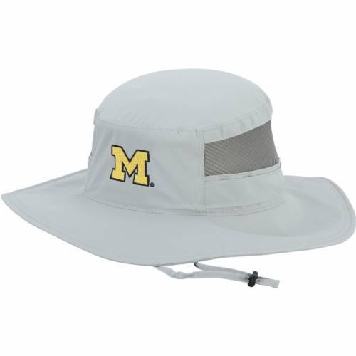 コロンビア COLUMBIA ミシガン 紺 ネイビー バッグ キャップ 帽子 メンズキャップ メンズ 【 Michigan Wolverines Bora Bora Booney Ii Omni-shade Bucket Hat - Navy 】 Gray
