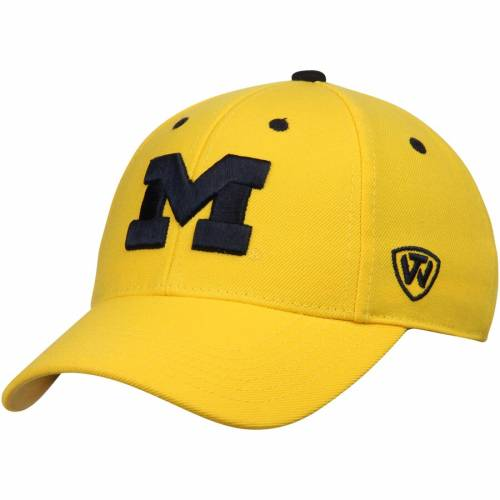 TOP OF THE WORLD ミシガン 紺 ネイビー 青 ブルー バッグ キャップ 帽子 メンズキャップ メンズ 【 Michigan Wolverines Dynasty Memory Fit Fitted Hat - Navy Blue 】 Maize