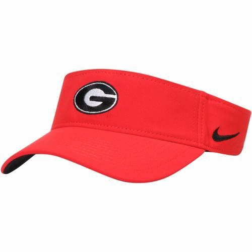 ナイキ NIKE パフォーマンス チーム 赤 レッド バッグ キャップ 帽子 メンズキャップ メンズ 【 Georgia Bulldogs Performance Team Visor - Red 】 Red
