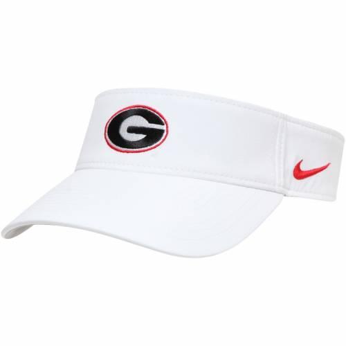 ナイキ NIKE パフォーマンス チーム 赤 レッド バッグ キャップ 帽子 メンズキャップ メンズ 【 Georgia Bulldogs Performance Team Visor - Red 】 White