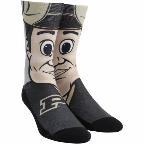 ROCK EM SOCKS ソックス 靴下 インナー 下着 ナイトウエア メンズ 下 レッグ 【 Purdue Boilermakers Mascot Crew Socks 】 Color